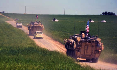 US armored vehicles in Syria