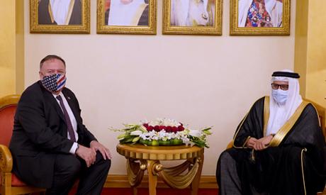 US Secretary of State, Mike Pompeo meets with Bahrain Foreign Minister Abdullatif bin Rashid Al Zaya