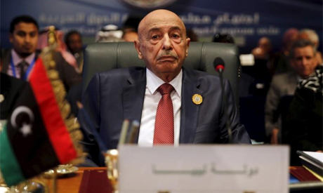 Head of the Libyan eastern-based parliament Aguila Saleh. Reuters