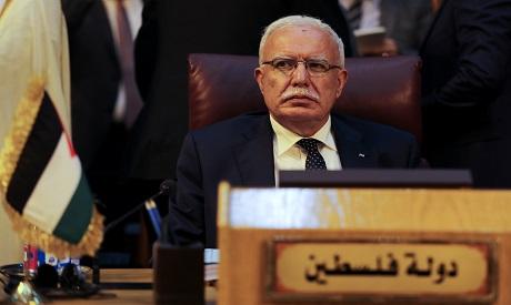 Palestinian foreign minister Riyad al-Maliki. AFP