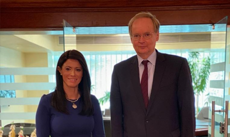 Minister of International Cooperation Rania Al-Mashat met on Thursday with Ambassador of the EU in C
