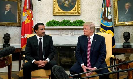 U.S. President Donald Trump meets Qatar