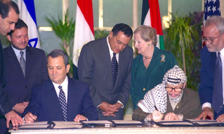 Mubarak with Arafat, Barak and Albright