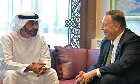 Bin Zayed and Pompeo