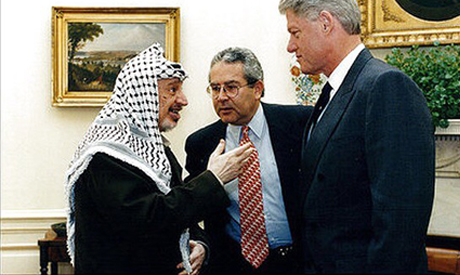 Helal with Arafat and Clinton