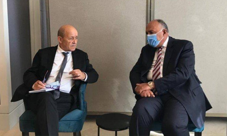 Egyptian, French foreign ministers