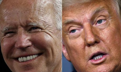 US President Donald Trump and Democratic challenger Joe Biden (File photo Reuters)
