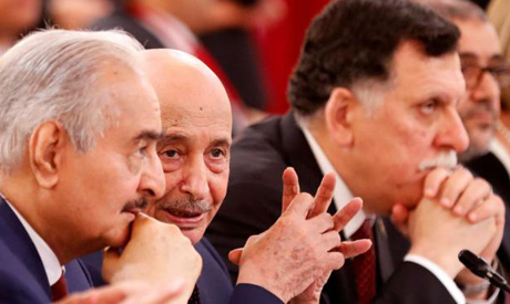 Haftar, Saleh and Al-Sarraj