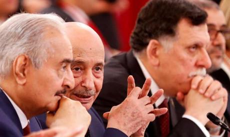Haftar, Saleh and Al-Sarraj