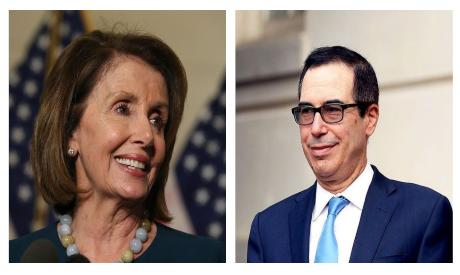 Nancy Pelosi and Steven Mnuchin