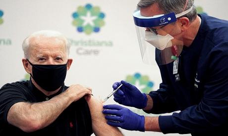 Joe Biden receives a second dose of a COVID-19 vaccine REUTERS