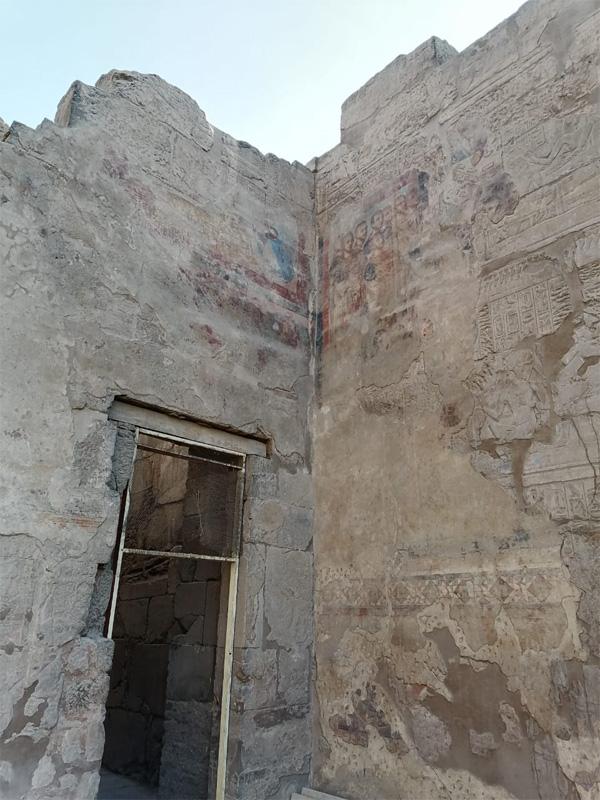 the christian sanctuary inside luxor temple