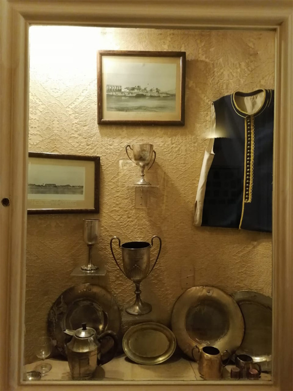 some of the souvenirs on display inside the hotel