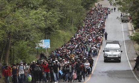 Honduran migrants in Guatemala