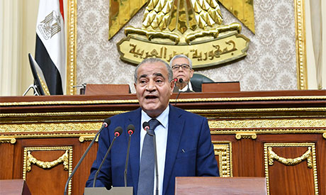 Egypt's Minister of Supply and Internal Trade Ali Moselhi