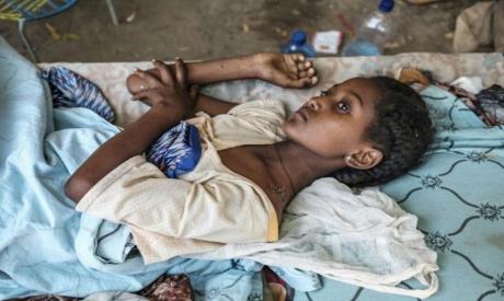 A young Ethiopian girl