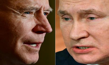 US President Joe Biden and Russian President Vladimir Putin (Reuters)