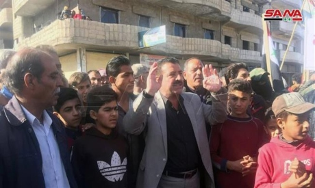 Syrians demonstrate against Syrian Democratic Forces
