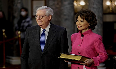 Senate Majority Leader McConnell and his wife Transportation Secretary Chao
