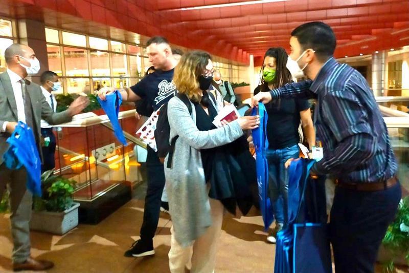 Tourists at Sharm El-Sheikh airport