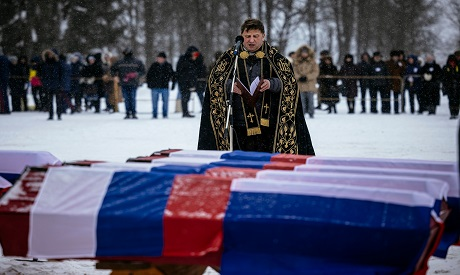 Burial ceremony for the victims of the Napoleonic wars