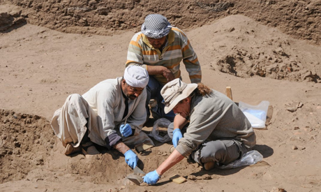 German-Egyptian excavation in Elephantine, Aswan