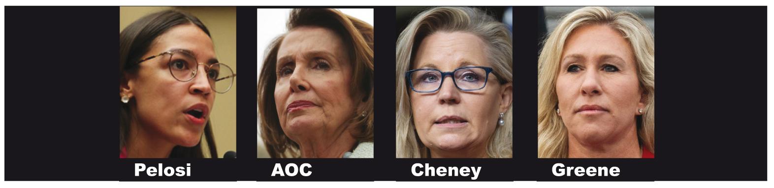 Four female faces of American politics