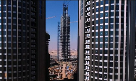 A still photo showing the construction works of the Central Business District