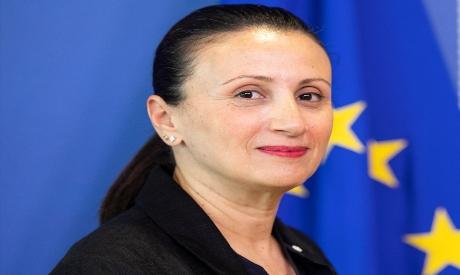 EU spokeswoman Nabila Massrali