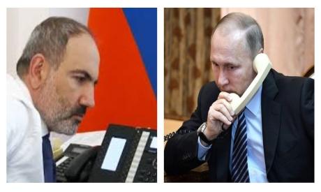 Nikol Pashinyan and Vladimir Putin