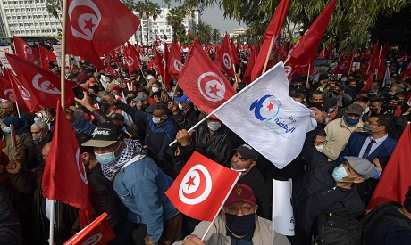 Supporters of the Islamist Ennahdha party, Tunisia, AFP