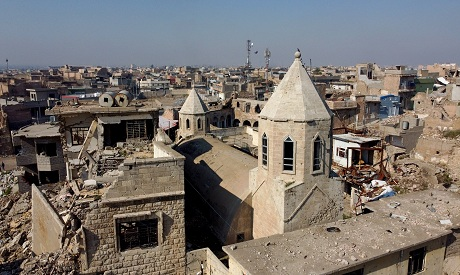 Mosul buildings destroyed during past fighting with Islamic State militants. REUTERS