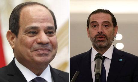 Abdel-Fattah El-Sisi and  Saad al-Hariri
