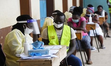 Health care workers in Kenya