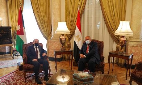 Shoukry and Safadi meeting