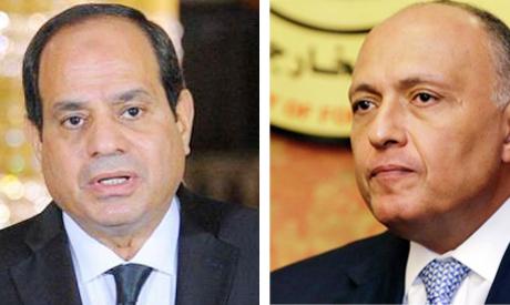 President Abdel-Fattah Al-Sisi and Foreign Minister Sameh Shoukri