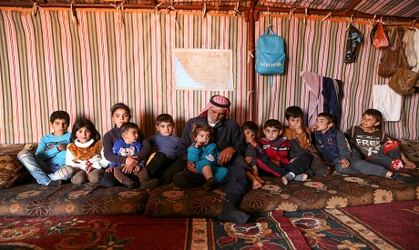 Syrian displaced family