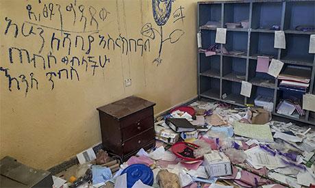 Looted health facilities
