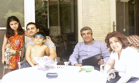 Amir Hekmati and family