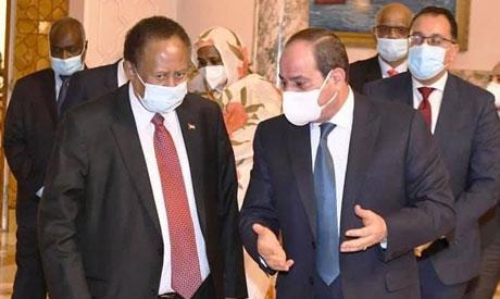 President Sisi and Sudan PM Hamdok