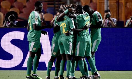 Senegal's players