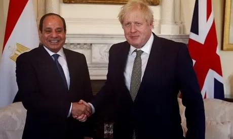 File photo: UK`s Prime Minister Boris Johnson and Egypt`s President Abdel Fattah El-Sisi. AP