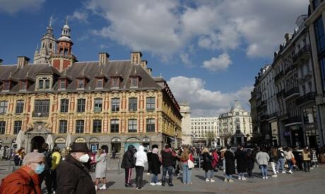 coronavirus France Covid lockdown . AP Photo