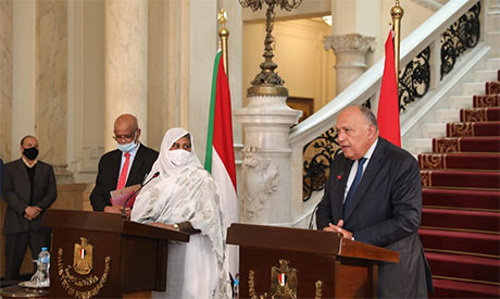 The foreign ministers of Egypt and Sudan