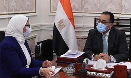 Prime Minister Mostafa Madbouly and Health Minister Hala Zayed