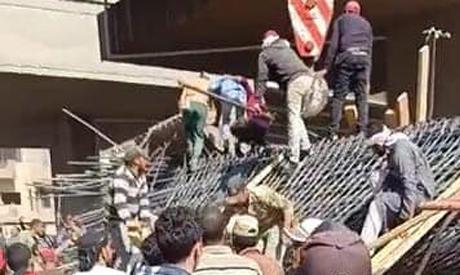 bridge in Giza collapses