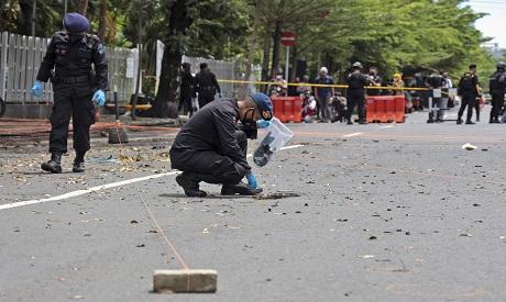 Indonesia church attack . AP