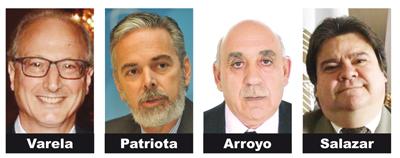 Eduardo A Varela, Antonio Patriota, Fernando Arroyo and Arnaldo Salazar