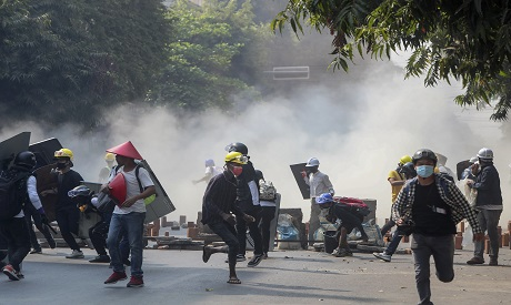 Myanmar protests following the generals