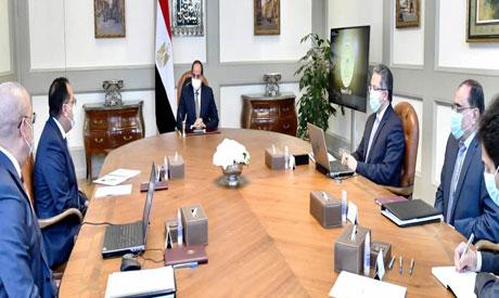 President Abdel-Fattah El-Sisi during the meeting
